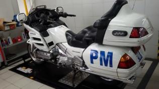 Lah dalah iki motor gede juga masuk servicenya ke situ,punyake Dinas Perhubungan